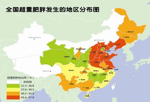中国肥胖指数地图新鲜出炉