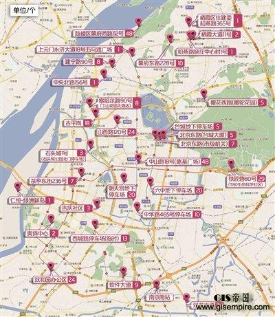 南京公布新能源汽车充电桩使用分布地图