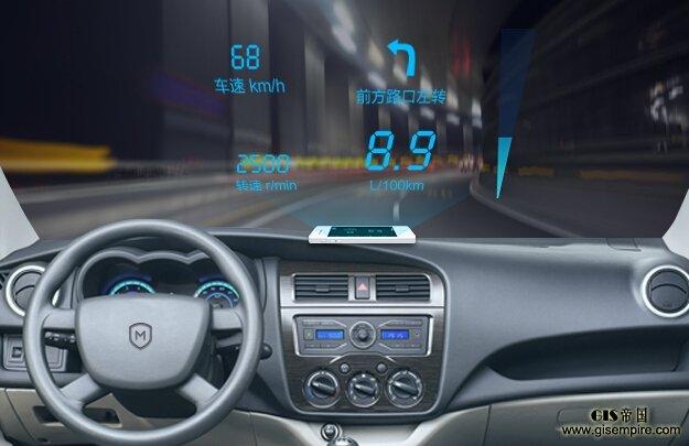 hud 膜就能将一些行车信息投射到前挡风玻璃上,这个功能只适合夜间